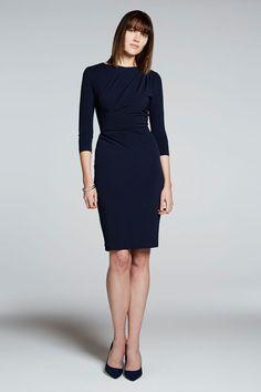 Clifton Dress Navy Jersey - The Fold | thefoldlondon.com