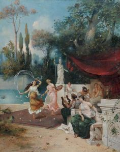 Etienne, Charles Corpet (1831-1903) - Musical Entertainment