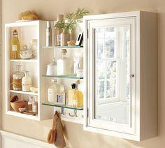 Bathroom wall storage idea. From: Decor To Adore - A Pretty Medicine Cabinet