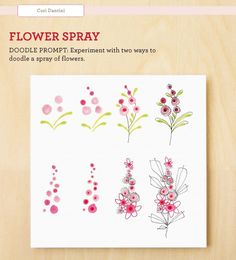 doodle patterns to copy of flowers | Let colors bloom in a spray of flowers from Cori Dantini