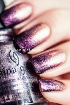 China Glaze - Strike Up A Cosmo and Rendevouz With You gradient manicure nail art nail polish