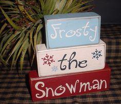 Frosty The Snowman Snowflake Snowman Wood by SimpleBlockSayings, $24.95