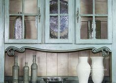 Hand Painted French Provincial Buffet Hutch China Cabinet By CharmingPatina On Etsy Wwwetsy HutchDining Room