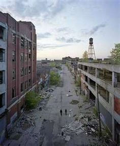 """Something about the """"ruins if Detroit"""" fascinates me in a weird sort of way..."""