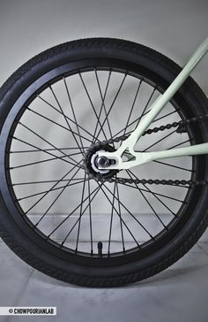 "ELEKTROKATZE… a new street style bicycle design by ChowPourianLab: handmade steel frame, fixed gear, shortened handlebars, 20"" wheels."