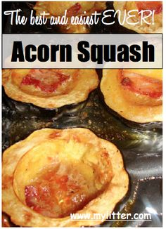 Easy Acorn Squash Recipe with Bacon and Brown Sugar