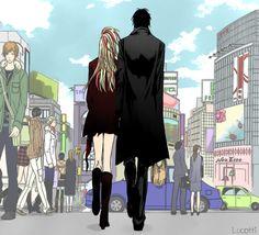 Ren and Kyoko holding hands. Skip Beat 197...