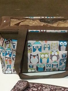 Thirty-One Medium Utility Tote in Hoot Chilly WITH a medium top a tote. Perfect for crochet projects and yarn storage! Now I want an owl one! Thirty One Fall, Thirty One Gifts, Thirty One Consultant, Independent Consultant, Thirty One Business, Yarn Storage, 31 Gifts, 31 Bags, Utility Tote