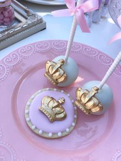 Loving the pretty cake pops and cookies at this Princess Baby Shower !! See more party ideas and share yours at CatchMyParty.com #catchmyparty #princess #cakepops #cookies