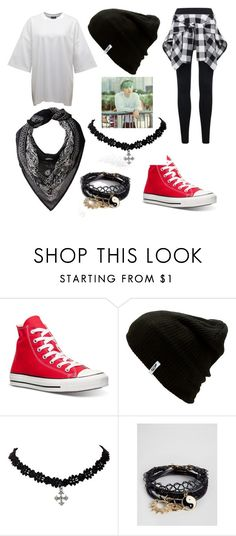 """""""BTS Suga ideal type outfit"""" by raventriple6 ❤ liked on Polyvore featuring Puma, Converse, Vans, ASOS and Chan Luu"""