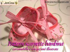 Tutorial-Cartamodello PDF per realizzare le scarpette per bambina, by Jencrea, 2,50€ su misshobby.com