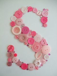 Button letter Art - small - Folksy
