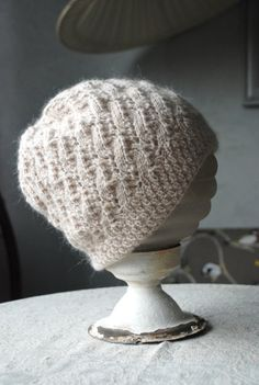 Romantic hat / handknitted hat / lace hat / knit hat / by UNDIIN