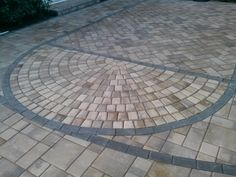 Paving stone basketball court!