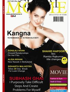 Kangana Ranaut on The Cover of Globel Movie - October 2013.