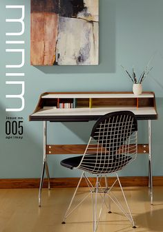 I would love to see an environmental graphic in an office with with the pantone swatch numbers stuck on the wall :)  Minim cover concept #3 by matthew stephen edwards, via Flickr