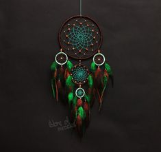 Dreamcatcher Kieleteka, which translated from the language of Indians Lakota means - The guardian of the people Sizes: D19cm; 8cm; 6cm; (inches: 7,48; 3,15; 2,36; ) The length 46cm (inches: 18,11) Materials used: Cotton yarn, feathers, goose feathers, feathers rooster,wooden beads,agate beads. This Dreamcatcher will be made to order Each work is individual and is handmade. To manufacture the catcher usually takes from four days to a week. After parcel is sent to You. The cobweb woven natu...