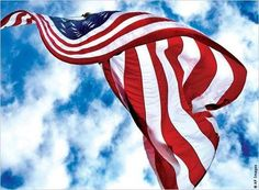 Old Glory waving in the breeze.  ~  May we always be mindful.