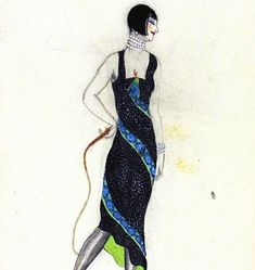 Victor Stiebel (1907-73), fashion design, England, about 1927. Museum no. E.1077-1983