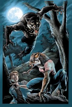Werewolf pinup_colors by Buchemi