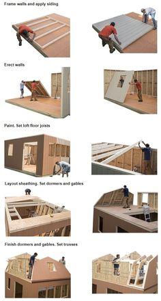Wood Shed Plans, Shed Building Plans, Diy Shed Plans, Building A House, Building Design, Storage Shed Kits, Wood Storage Sheds, Framing Construction, Best Barns