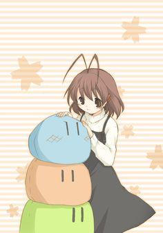 Nagisa with her Dango Family  #Clannad