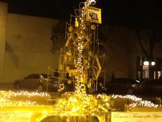 Just my vision, but with the talent from many SAE students it was able to come together as a Golden Christmas Tree for Pomona Christmas Parade.