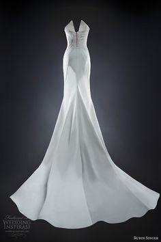 rubin singer 2014 bridal naomi wedding dress back train