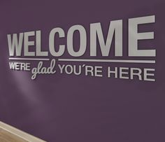 Welcome We re Glad You re Here Sign - Family - Housewarming Gift - Entryway Decor - 3D letters - SKU:WEGL