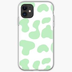 Mint Green Cow pattern iPhone Case & Cover