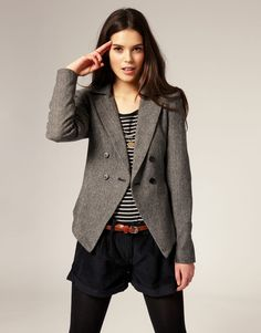 This is a blazer style, where it's more formal, but can also be used with different items for a bit of a casual look.