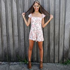 Renee loves Fridays! Someday's Lovin' Floral Playsuit from Peppermayo.com
