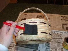 Basketmaster's Weavings: Staining a Basket with Liquid Minwax