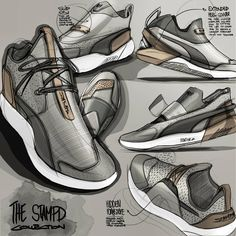 """""""Sketch log : Day 23 Footwear week has been a blast. A bit late to join the party but @Puma recently let out a beast of a design collab with @stampdla.…"""""""