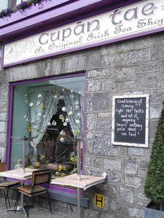 Cupan tae, lovely tea shop in Galway - Ireland https://www.facebook.com/IrelandOfAThousandWelcomes?hc_location=timeline