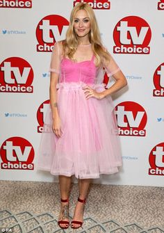 Pretty in pink: Fearne Cotton went for a different direction to the TOWIE cast…