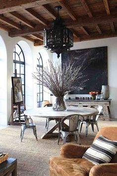 Ethnic Chic Home living room inspiration Decor, Home, House Styles, Interior And Exterior, House Design, Sweet Home, Interior Design, House Interior, Dining