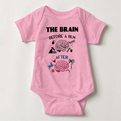 Runners Brain Baby Bodysuit