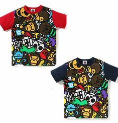 c3d805e9 (eBay Sponsored) A BATHING APE BAPE KIDS BIG MILO ALL SAFARI TEE 2colors  Baby