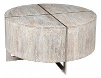 Desmond Rnd Coffee Table Gray from Classic Home (option for Family Room)