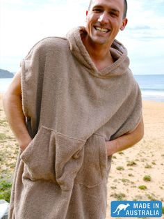 Super warm Surf Poncho | Changing Robe for men that love the water.