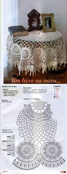 crochet tablecloths with floral elements... ♥ Deniz ♥