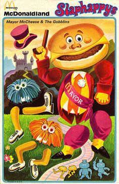 McDonalds - Slaphappys Stickers - Mayor McCheese & The Gobblins - 1972 by JasonLiebig, via Flickr
