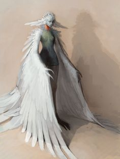 mama bird by Chaotic-Muffin Fairy World & Fantastic Creatures Keka❤❤❤ Bird People, People Art, Drawn Art, Mythological Creatures, Creature Concept, Magical Creatures, Creature Design, Character Design Inspiration, Drawing People