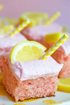 Pink lemonade gets a twist in this pink lemonade cake. This is the perfect lemonade cake with a moist texture, citrus flavor and fun color to enjoy summer! Just Desserts, Delicious Desserts, Yummy Food, Pink Desserts, Cupcakes, Cupcake Cakes, Cupcake Recipes, Dessert Recipes, Yummy Treats