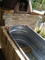Little City Farm: Affordable homemade wood-fired hot tub!