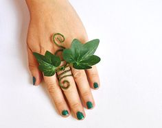 Poison Ivy ring adjustable poison ivy fancy dress tree people green man green woman