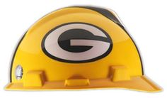 TheGreen Bay Packers Hard Hat is an MSA V-Gard hard hat withofficially licensed Green Bay Packers team decalsand a comfortable, strap adjustable Staz-On® suspension. This hard hat offers superior quality, comfort, and protection.   NFL Hard Hats meet or exceed all applicable requirements for ANSI Z89.1 -2003 for a Type I helmet.