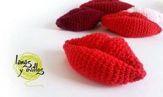 beso labios crochet patron gratis amigurumi
