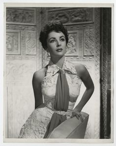 1954 YOUNG ELIZABETH TAYLOR PIN UP BEAUTY PHOTOGRAPH VIRGIL APGER VINTAGE RAREST